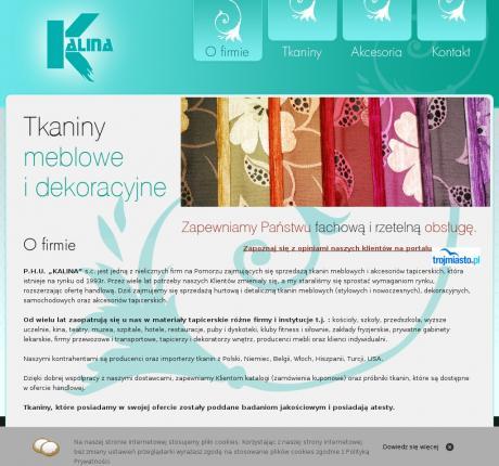 Kalina Tkaniny Meblowe I Dekoracyjne Akcesoria Tapicerskie